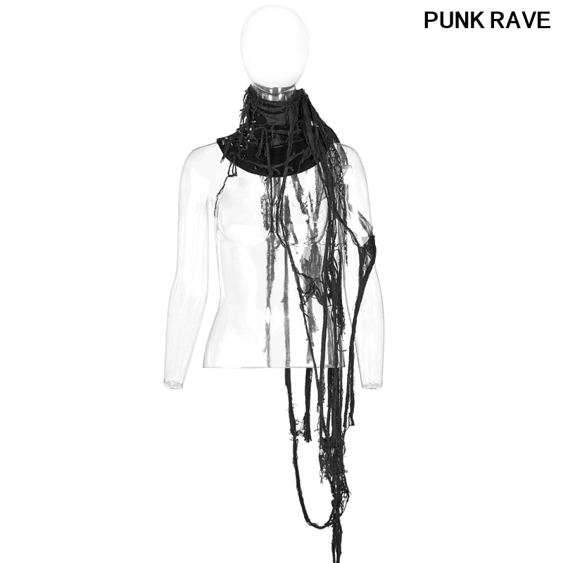 Gothic personality Slim Fit Double Layer Net Winter Warm Scarfs fashion Palace noble Hollow Out Women Scarf PUNK RAVE WS-308LHF