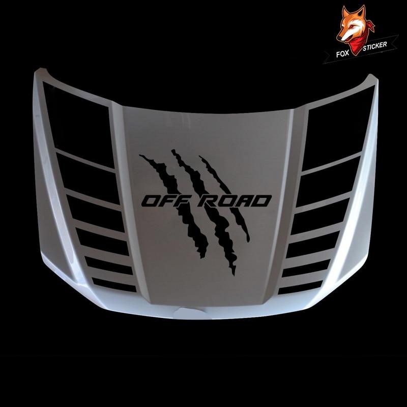 3 piezas accesorios para coche calcomanías gráficas de vinilo calcomanías capucha Scoop garra arañazos vinilo gráfico para FORD F150 2015-2018