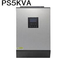 Onduleur solaire hybride 5000VA PS5KVA 48VDC à 230VAC avec contrôleur de chargeur solaire 48V50A et fonction parallèle de chargeur ca 60A