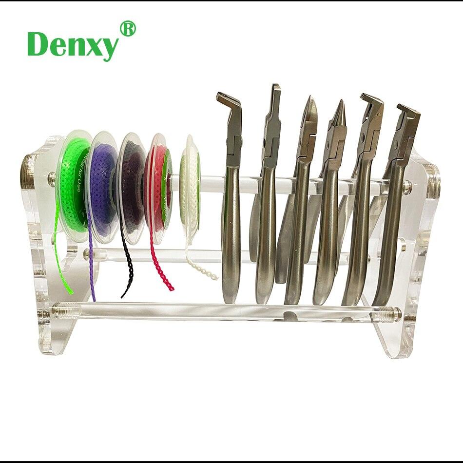 Denxy – pinces dentaires de haute qualité, 1 pièce, type épaissi, support en acrylique transparent, étagère, accessoires dentaires