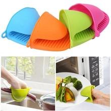 Высокое качество, 1 шт., кухонные перчатки для выпечки, силикагель, Теплоизоляционный зажим, Нескользящие перчатки, бытовая миска, духовка, микроволновая печь