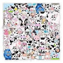 Pegatinas decorativas impermeables con dibujos animados, grafiti de vaca, leche bonita, nevera, ordenador, cuaderno, venta al por mayor, 10/30/50 Uds.