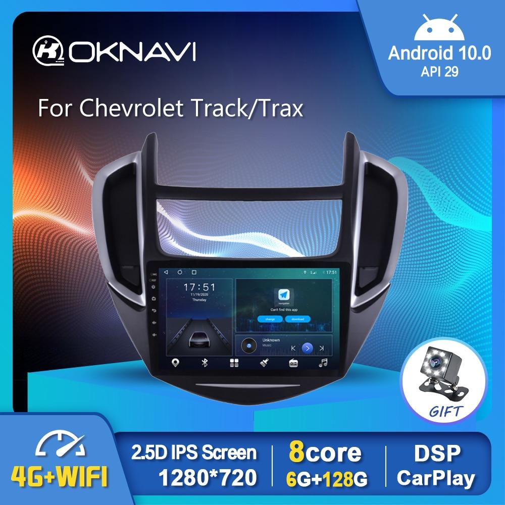 OKNAVI Android 9,0 Radio de coche para Chevrolet Trax pista 2014-2016 GPS...