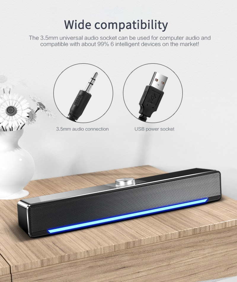 USB Wired Bluetooth-compatible Speaker Home Theater Surround SoundBar for PC TV Computer AUX Bass Stereo Powerful Music Speakers enlarge