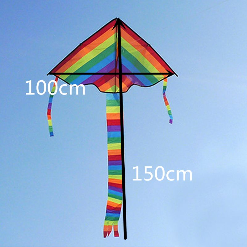 1PC New Long Tail Rainbow Kite Outdoor Kites Flying Toys Kite For Children Kids