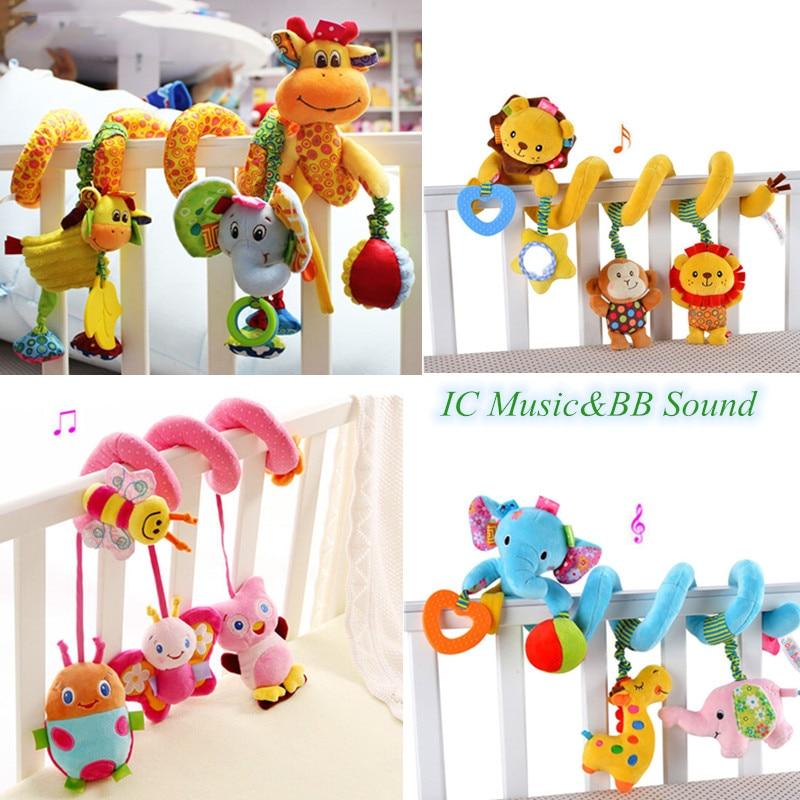 Детские игрушки 0-12 месяцев кроватки Мобильная кровать колокольчик погремушки Развивающие игрушки для новорожденных подвесное сиденье в автомобиль Младенческая кроватка спиральная коляска игрушка