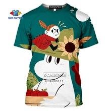 SONSPEE drôle dessin animé Moomins hommes T-shirt 3D impression femmes T-shirt été décontracté Harajuku chemise Fitness surdimensionné haut rue t-shirts