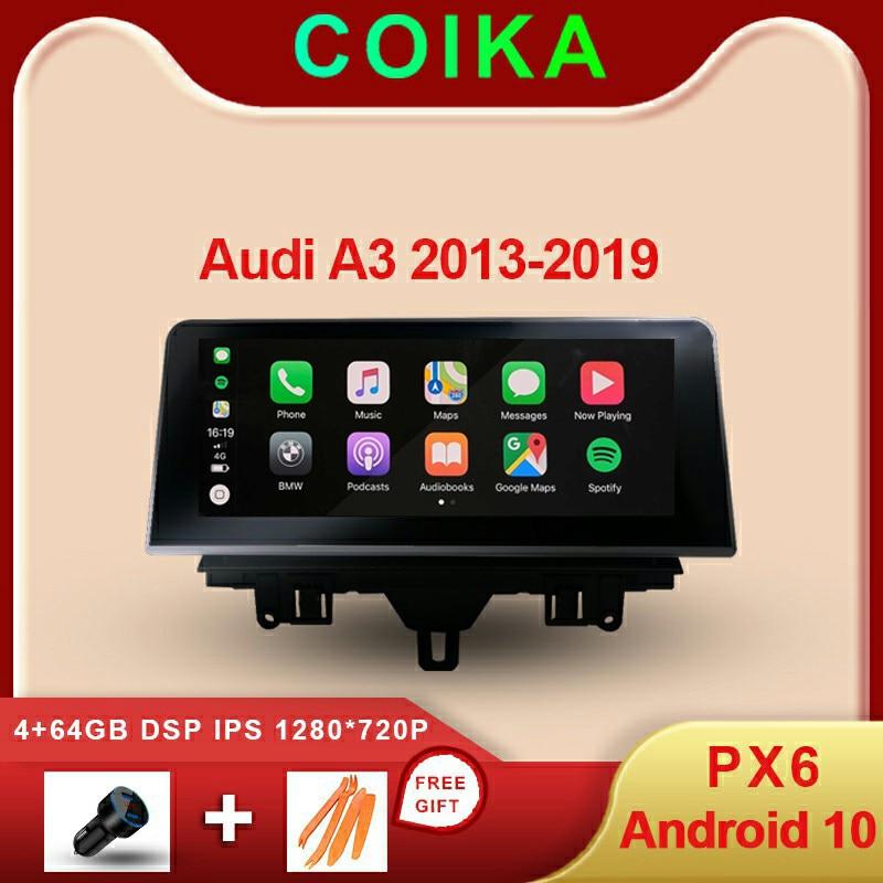 8 Core Android sistema GPS para coche Navi receptor para Audi A3 2013-2020 4 + 64GB de RAM WIFI 4G LTE Carpaly BT IPS pantalla Multimedia ESTÉREO