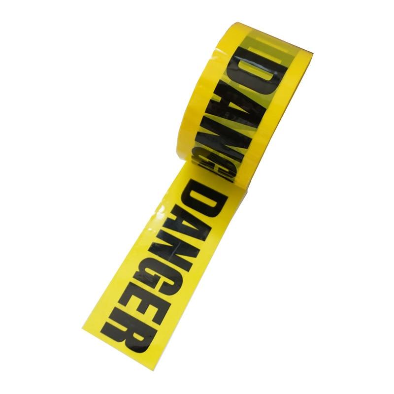 25M DIY Decoration Warning Barricades Ribbon Danger Tape Safety Caution Tape Warning Tape Remind Work Adhesive Tapes DIY Sticker