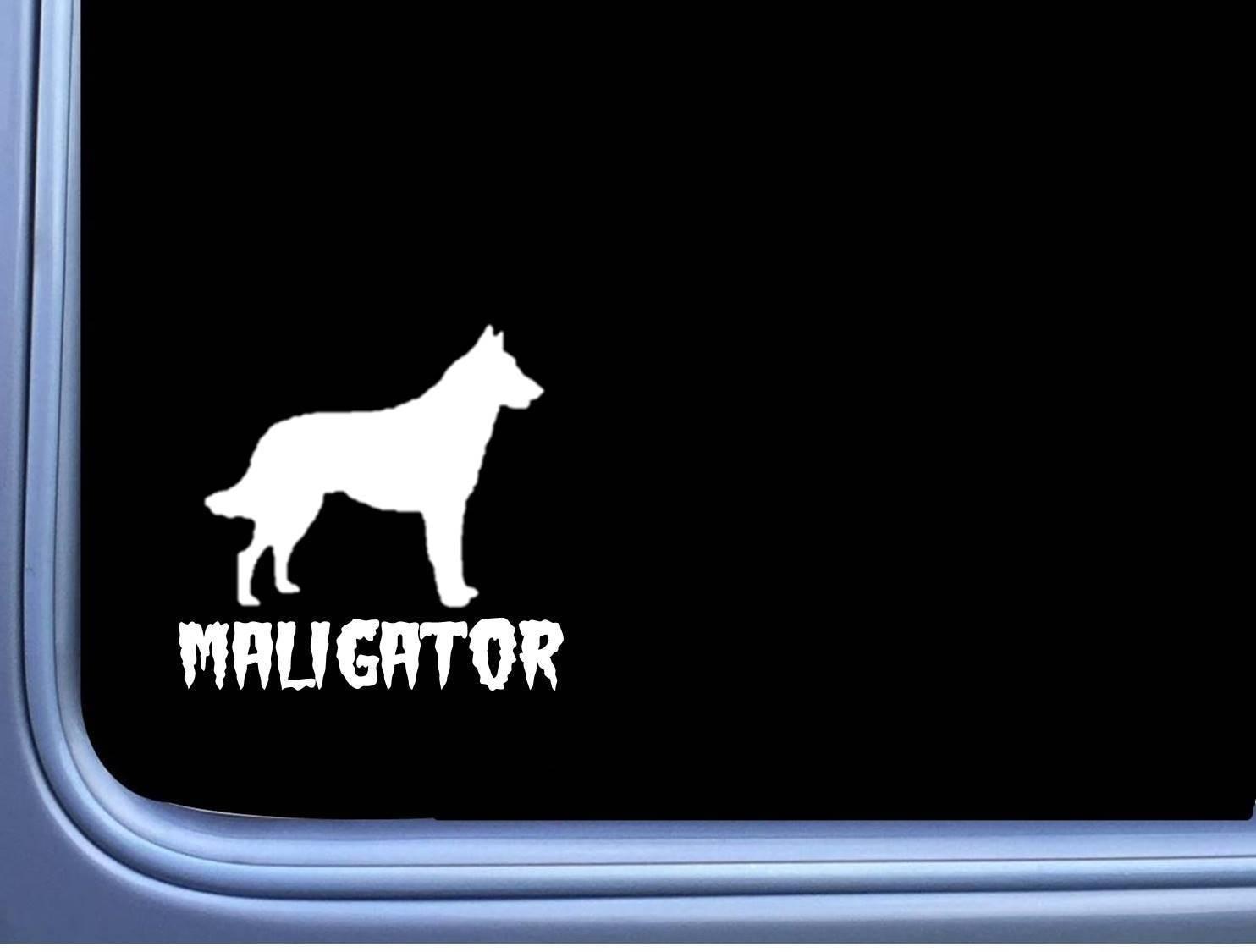 Para Maligator Belgian malois M350 6 pulgadas pegatina perro precaución k9