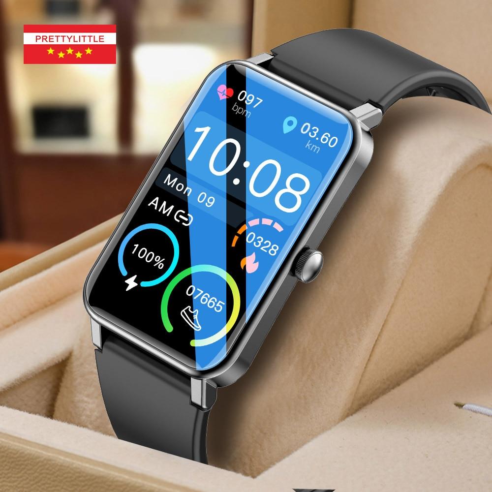 2021 جديد الرياضة ساعة ذكية الرجال النساء 1.57 بوصة تعمل باللمس الكامل جهاز تعقب للياقة البدنية IP68 مقاوم للماء Smartwatch للهاتف أندرويد IOS