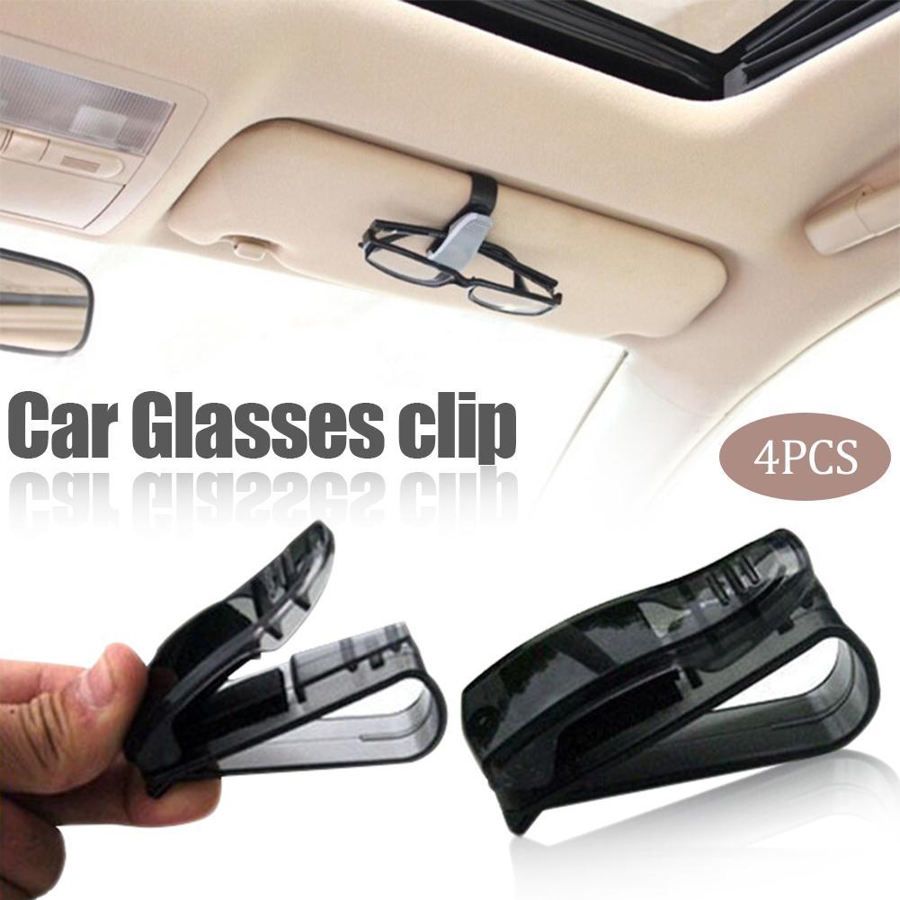 4 PieceHot sprzedaż akcesoria samochodowe osłona przeciwsłoneczna okulary okulary okulary karty długopis Abs przenośny klip uchwyt na bilety stojak