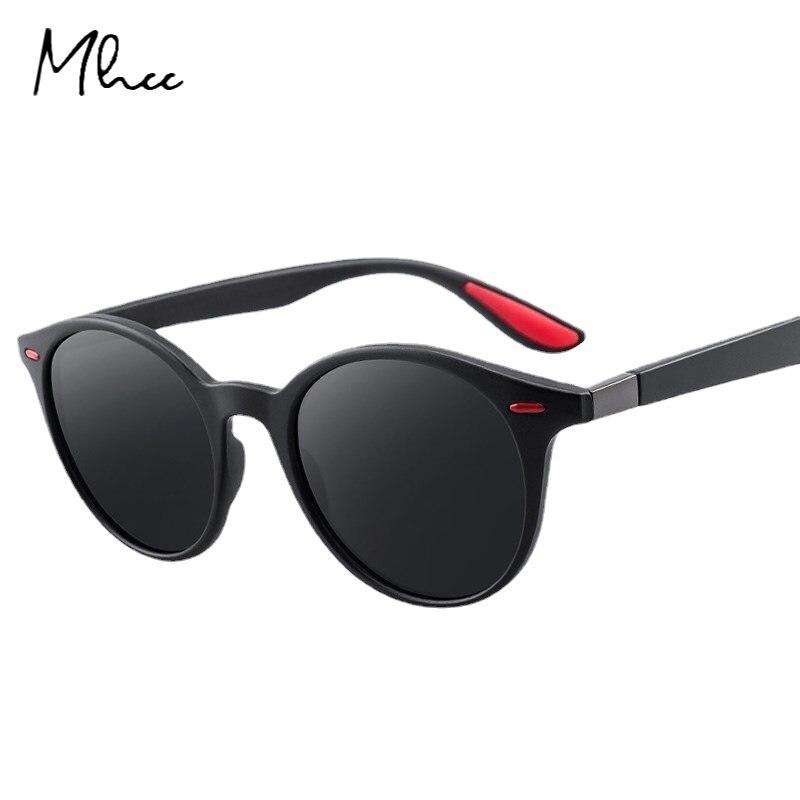 Мужские солнцезащитные очки UV400, модные круглые поляризационные спортивные очки в стиле ретро, Классические солнцезащитные очки для вожден...
