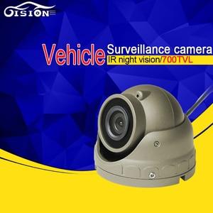 Free Shipping 700TVL Mini Metal Ceiling Camera,IR Night Vision AV/Aviation/BNC for Car DVR Truck Bus Vehicle Surveillance,3.6mm