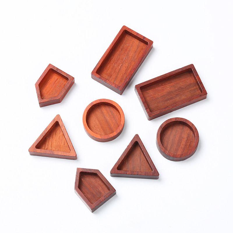 Пустое дерево круглый кабошон квадратная деревянная рамка из смолы подвески оправы для создания ювелирных изделий из смолы DIY Ручная работа