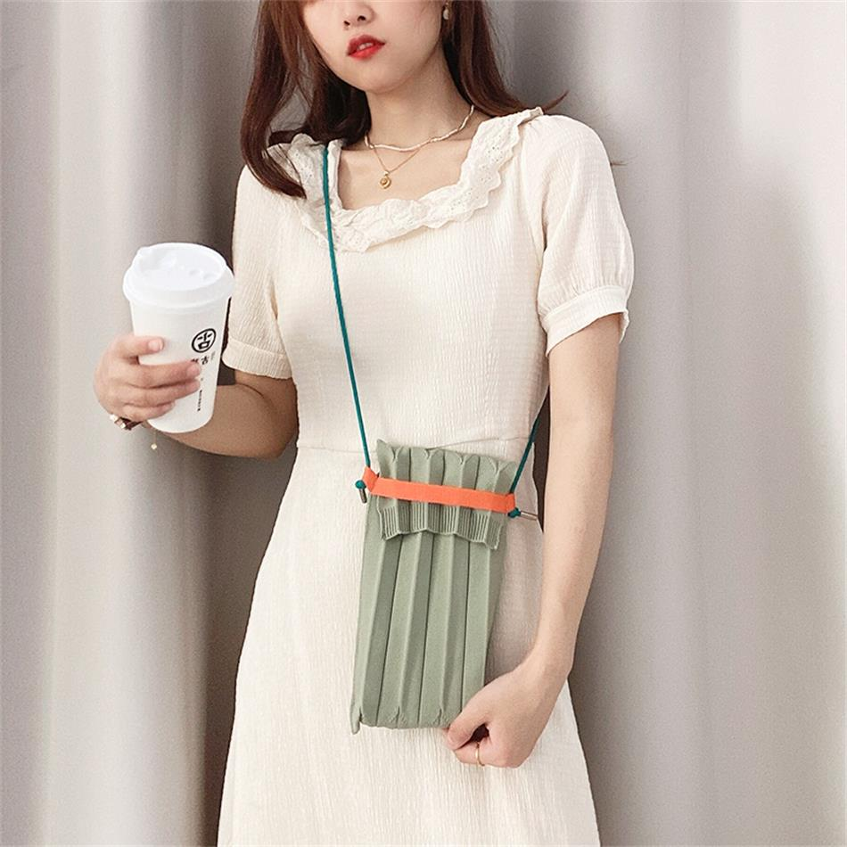Knitted Wool Wallet Mobile Phone Square Bag Mini Woven Handbag Purse Clutch Casual Messenger Shoulde