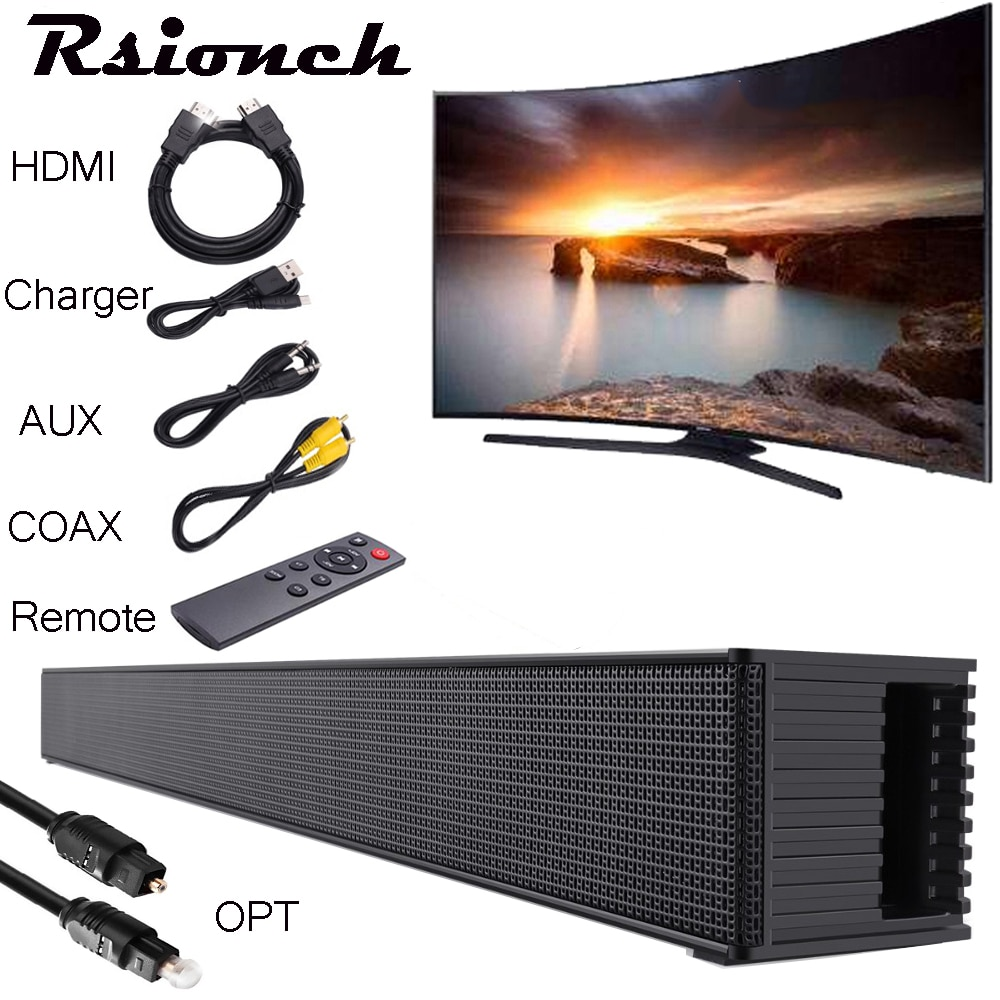 Rsionch 40W Wireless Column Soundbar Bluetooth Speaker Powerful 3D Music Sound bar Home Theater Aux 3.5mm RCA TF For TV PC BS18