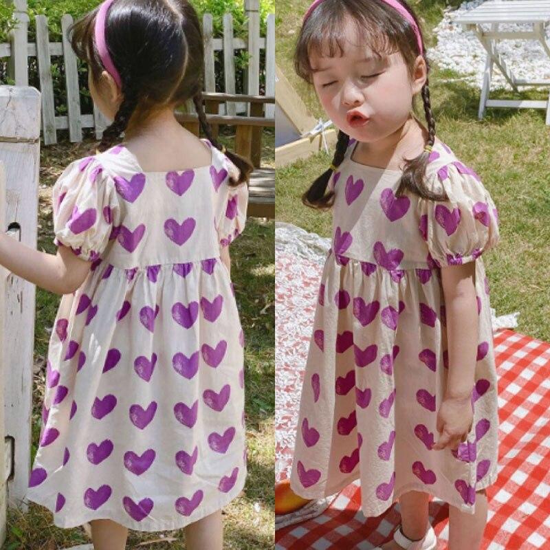 Moda 2-6 años, los niños las niñas vestido de verano de manga...