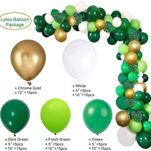 Safari Jungle Balloon Garland Arch Kit Palm Leaves and Balloons for Baby Shower Wild Theme Party Decor Supplies