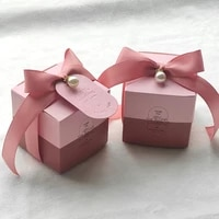 gift box thank you bags pink gift bag boygirl paper blue chocolate small boxes for birthday party wedding engagement favors