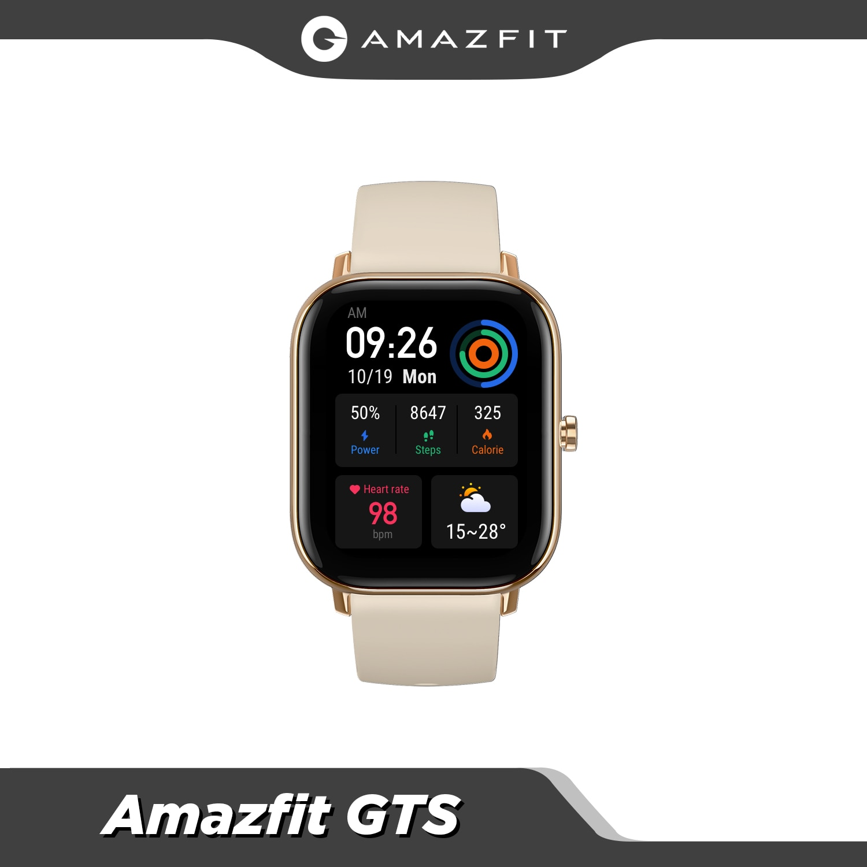 Original Amazfit GTS Smart Watch Long Battery  12 sports modes GPS Music Control 5ATM Waterproof Metal body Smartwatch