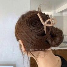 INS Elegant Macaron Color Bath Hair Claw Shark Barrettes Large Design Simple Back Head Hair Clip Hea