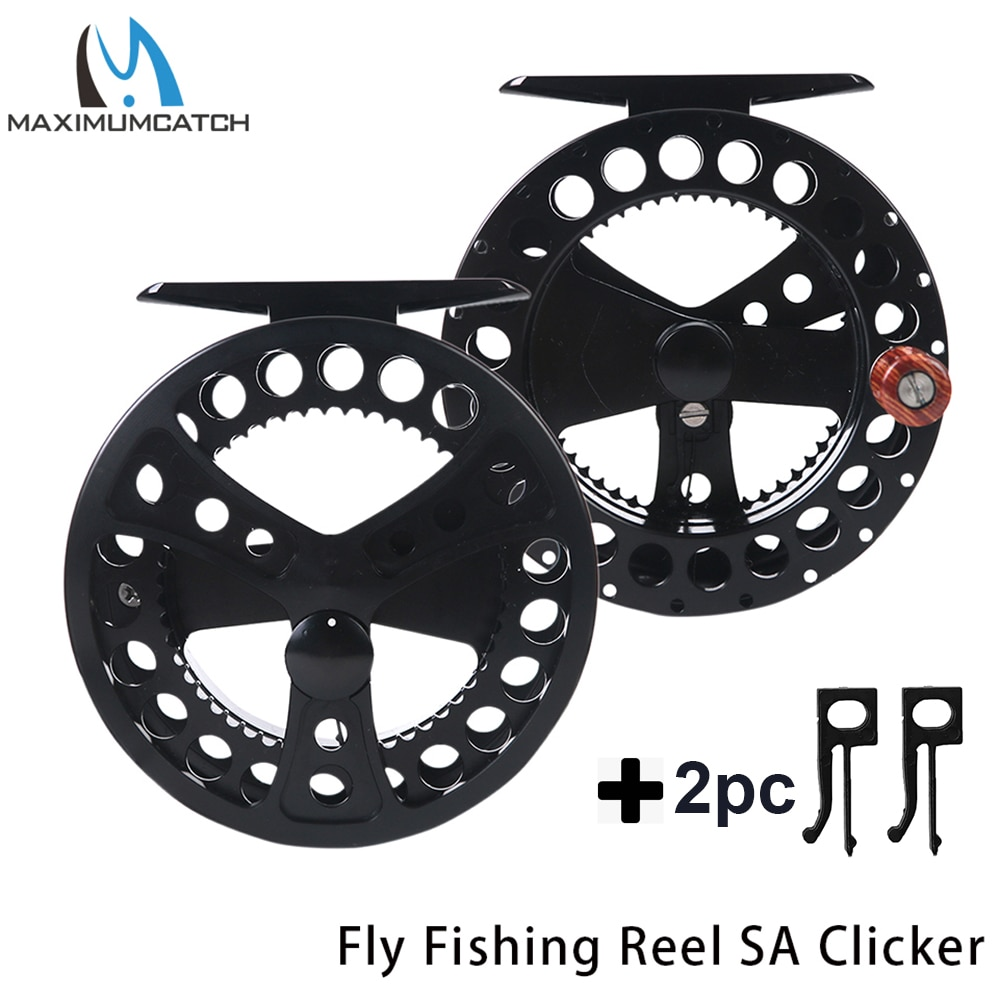 Maximumcatch 2-4wt sage clicker fly carretel de pesca máquina corte de alumínio voar carretel