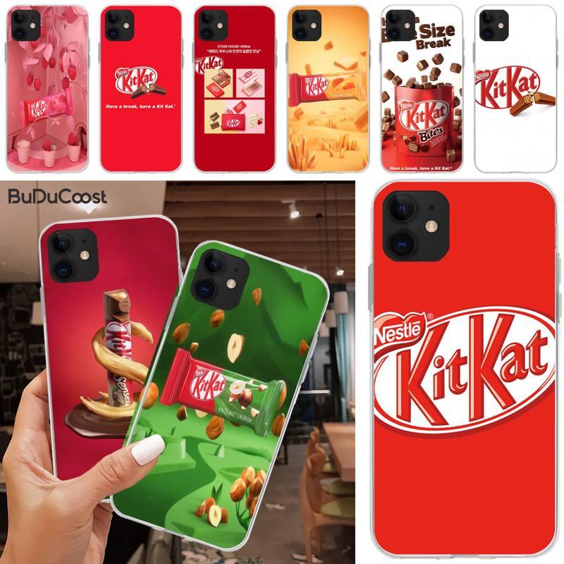 Funda de teléfono Jomy kit kat chocolate kitkat para iphone 5C 5 6 6s plus 7 8 SE 7 8 plus X XR XS MAX 11 Pro Max