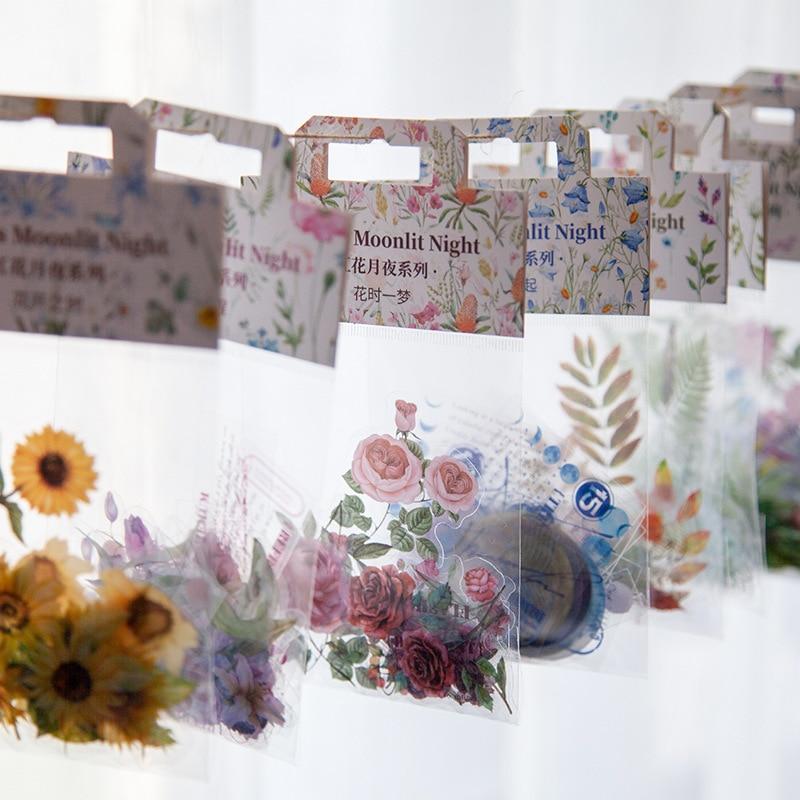 30-pz-pacco-pet-adesivi-decorativi-trasparenti-fiori-pianta-serie-decalcomanie-per-fai-da-te-scrapbook-diario-decorazione