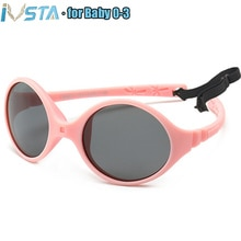 IVSTA 0-3 Newborn Baby Sunglasses Small Kids Sunglasses Girls No Screw Unbreakable Rubber TR90 Silic