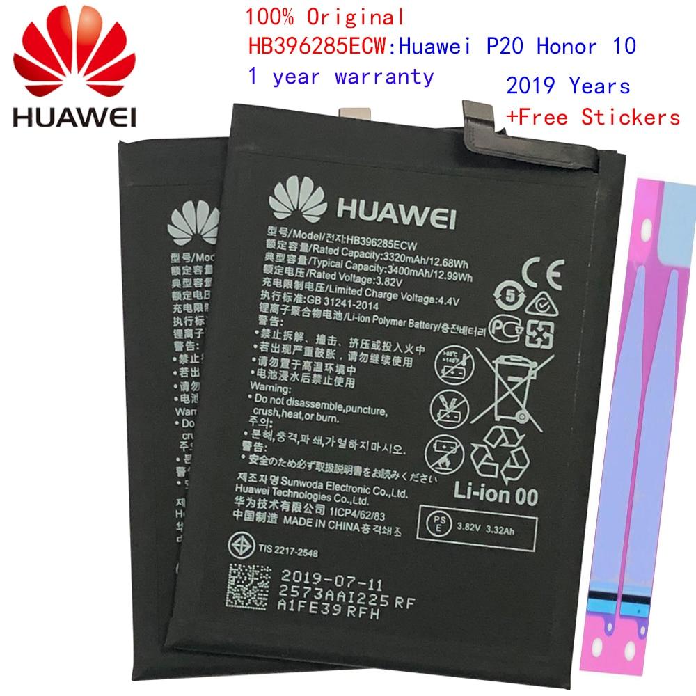Batería de teléfono de repuesto Hua Wei HB396285ECW 3400mAh para Huawei P20 / Honor 10 / Honor 10 Lite baterías originales