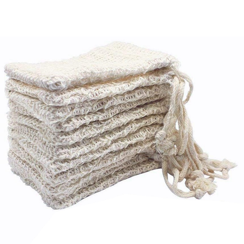 Bolsitas New-15x para jabón exfoliante, bolsa hecha a mano, bolsa de almacenamiento de jabón, Red de espuma ramio