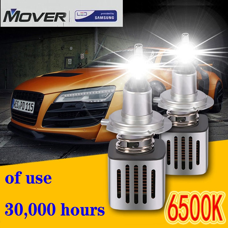Móvil SAMSUNG 2 uds faros delanteros para automóvil bombillas LED H1 H4 H7 H8 H9 9005 9006 HB3 HB4 6500K luz blanca para automóvil