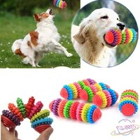 swt durable rubber dental teething healthy cleaning gums interactive toys 4 color pet dog puppy cat chew play toy