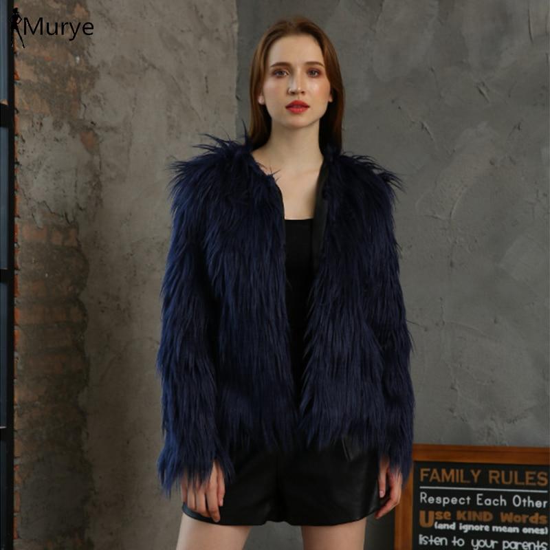 Abrigo de invierno para mujer chaqueta de piel sintética cardigan peludo outwear Rosa felpa mullido teddy sobretodo moda ropa casual sólida