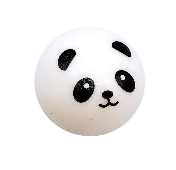 7 см Мягкая панда булочка мяч для снятия напряжения медленно поднимающийся декомпрессии игрушки PU ключа цепочки брелок детские игрушки