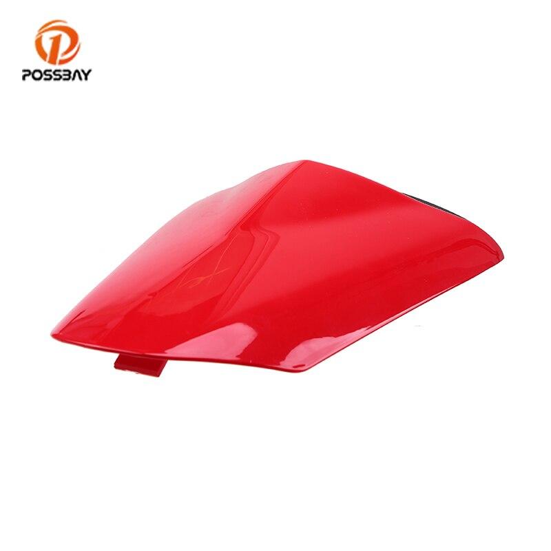 POSSBAY rojo para Kawasaki Ninja ZX6R 2009, 2010, 2011, 2012, 2013, 2014, 2015, 2016 de la motocicleta asiento tipo sillín trasero carenado de parabrisas cubierta