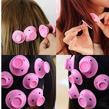 10/20pcs Soft Rubber Silicone Hair Curler Twist Hair Rollers Hair Curler No Heat Hair Styling DIY To