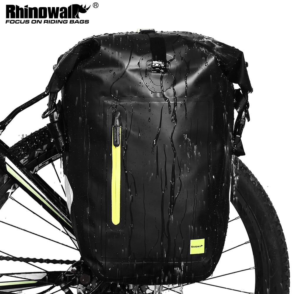Rhinowalk-حقيبة دراجة مقاومة للماء 25 لتر ، حقيبة دراجة جبلية ، للمقعد الخلفي ، ملحقات الدراجة
