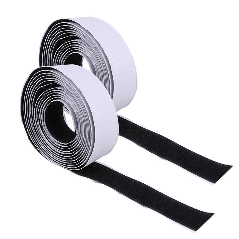2 rollos de cinta adhesiva de cortina autoadhesiva con y cinta adhesiva cinta de cortina de malla mosquitera para ventana múltiple