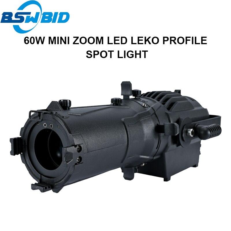 60W/80W/120W mini Zoom led leko profile Spotlight KTV Bar Background Spot Lighting Led Ellipsoidal Spot Light