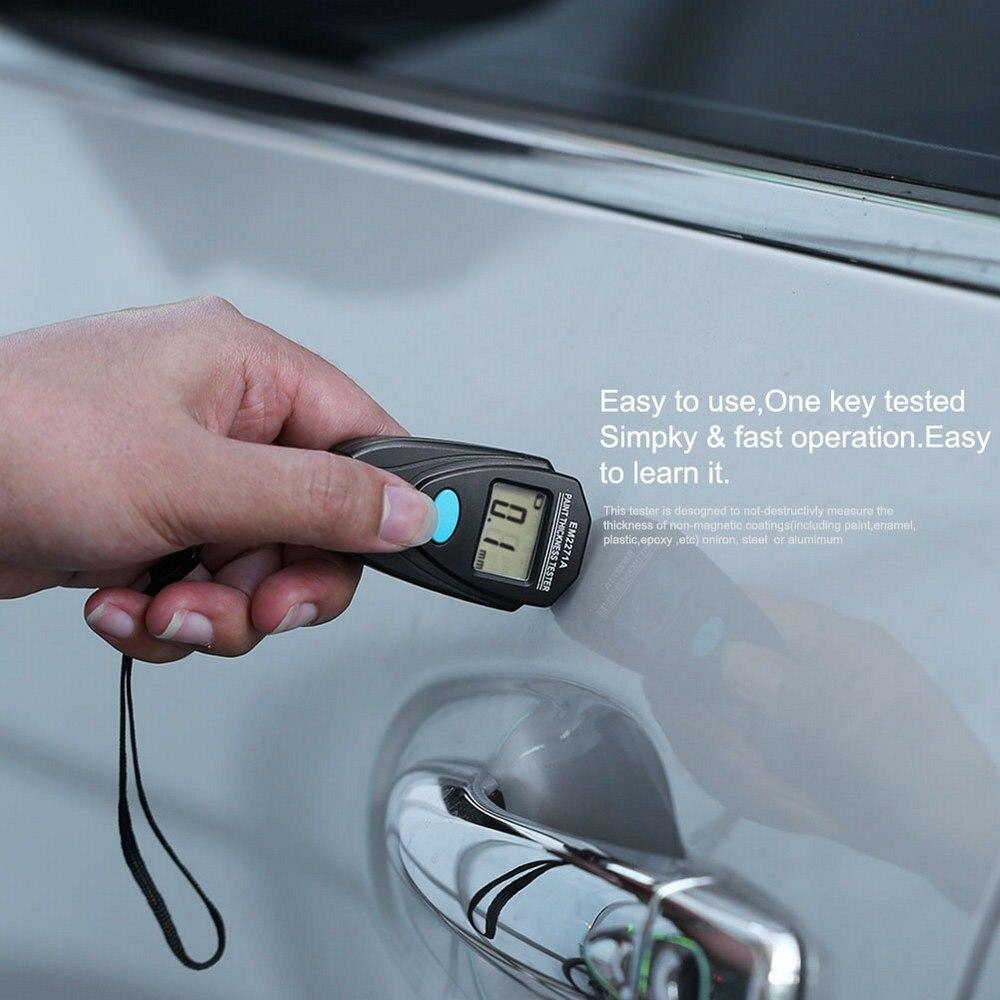 EM2271A LCD Digital Thickness Gauging  Mini Automobile Coating Painting Thickness Meter Gauge Tester Measure Tools pocket vibrometer pen type vibration meter tester gauge analyzer measure precision sensitivity accelerometers smartsensor as63d