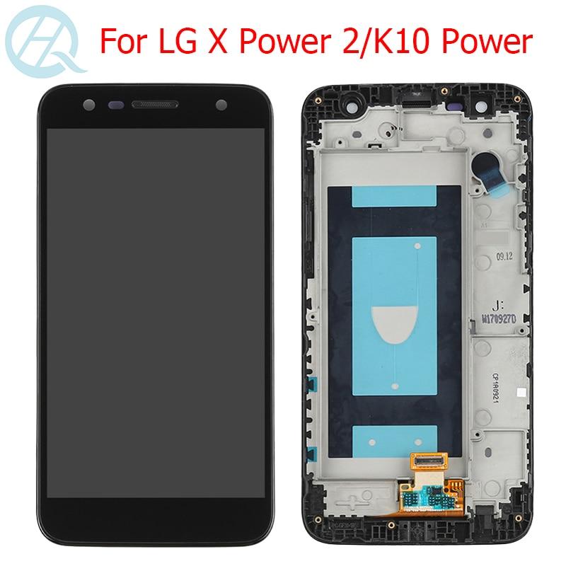 "LCD Original para LG X Power 2 pantalla con marco de pantalla táctil 5,5 ""LG K10 Power M320TV X500 M320 M320F M320N montaje de pantalla LCD"