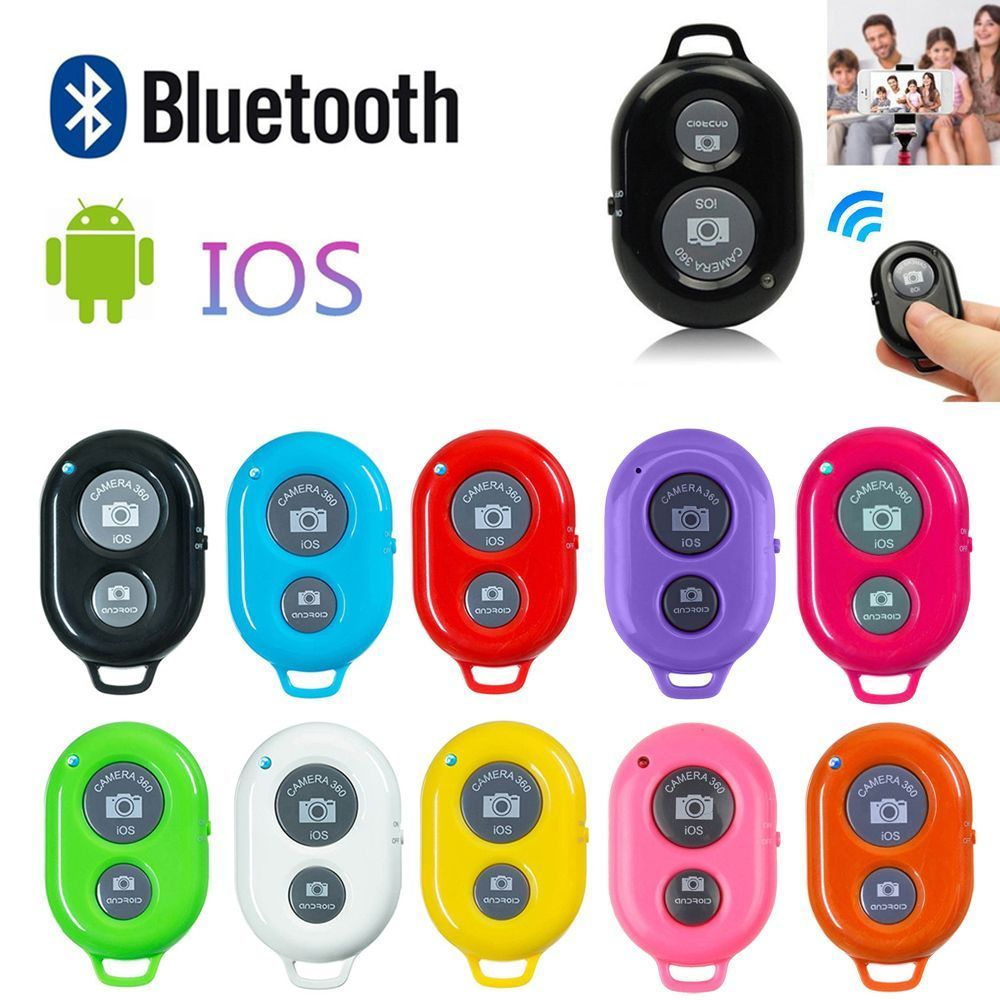 extendable self selfie stick handheld monopod bluetooth shutter remote controller clip holder for iphone android samsung htc ect Wireless Bluetooth Smart Phone Camera Remote Control Shutter For Selfie Stick Monopod compatible Android IOS For iPhone Samsung