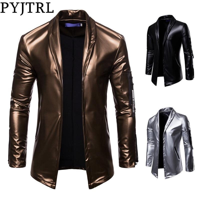 PYJTRL Men's leather jacket
