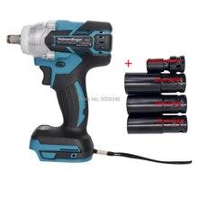 Clé à chocs électrique sans brosse Rechargeable sans fil avec prise 19mm 21mm 22mm et adaptateur à douille