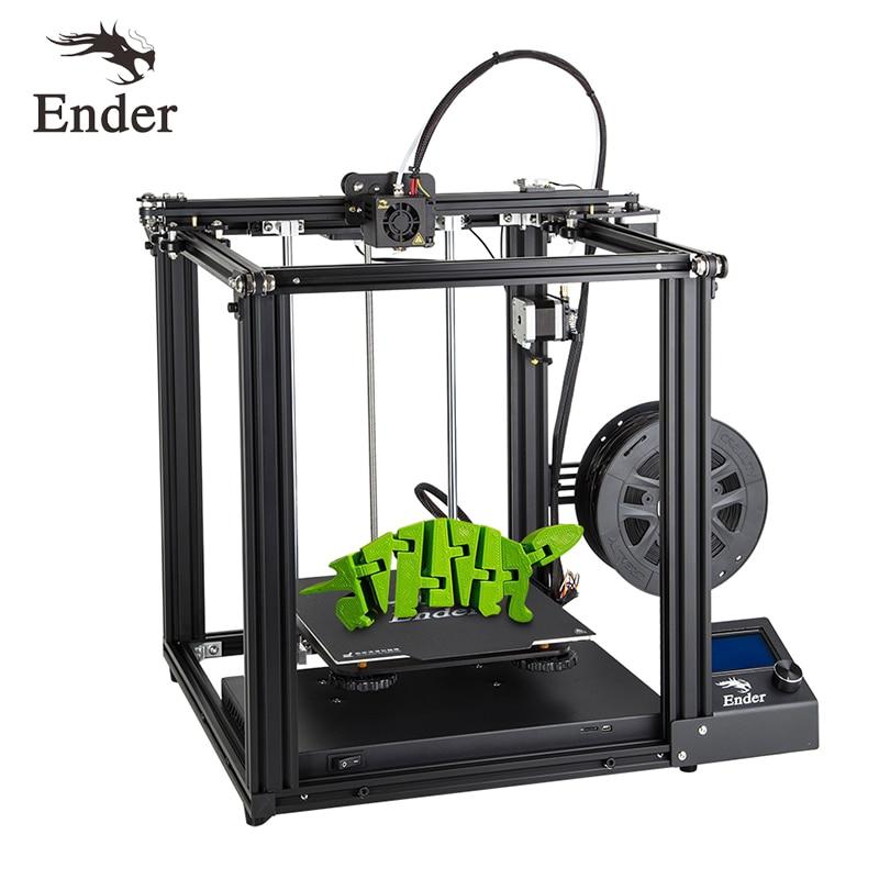 3D принтер высокой точности, Ender-5, большой размер, Cmagnetic, сборка пластины, выключение питания, легкое биаuld Creality 3D нити + Горячий слой + SD