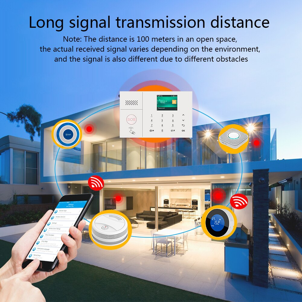 MULO 4G 3G Security Alarm Systems for Home with Smart Motion Detector and Door Sensor PG108 enlarge