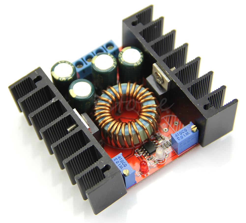 Módulo de Potência do Carro 200w para Bateria Conversor Ajustável Dc-dc 7-32v 10a – Led