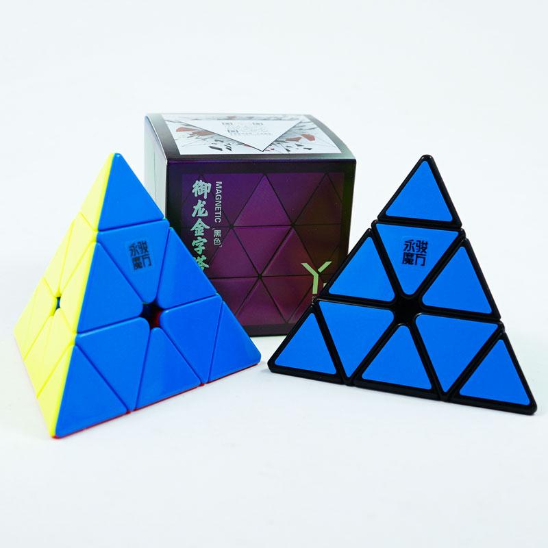 YJ Yulong pirámide V2M Magic Pyramids cubo Stickerless Yongjun imanes triángulo rompecabezas cubos velocidad para niños